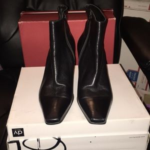 Black leather booties..no scratches in the leather